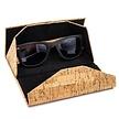 Kork-Sonnenbrille inklusive Etui - Schwarz