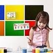 Pinnwand aus Kork - selbstklebend - farbig - 40 x 50 cm - 4mm - hellgrau