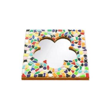 Cristallo Mosaik Bastelset Spiegel Blume Vario