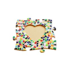 Cristallo Mosaikbastelset Bilderrahmen Vario Herz
