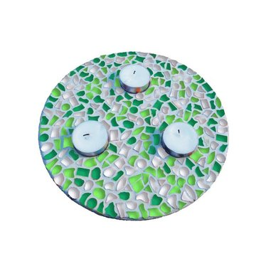 Cristallo Mosaik Bastelset Teelichthalter Frühling
