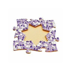 Cristallo Mosaikbastelset Bilderrahmen Stern Weiss-Lila-Violett