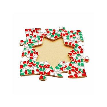 Cristallo Mosaik Bastelset Bilderrahmen Stern Weihnachten