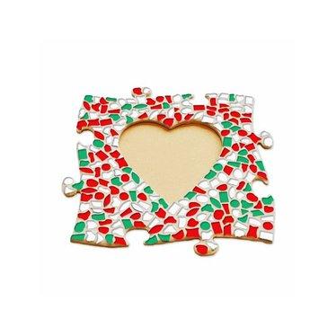 Cristallo Mosaik Bastelset Bilderrahmen Herz Weihnachten