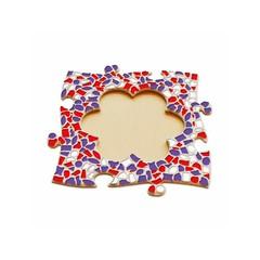 Cristallo Mosaikbastelset Bilderrahmen Blume Rot-Weiss-Lila
