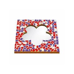 Cristallo Mosaikbastelset Spiegel Blume Rot-Weiss-Lila