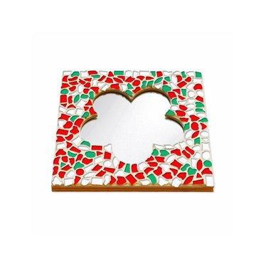 Cristallo Mosaik Bastelset Spiegel Blume Weihnachten
