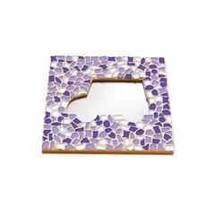 Cristallo Mosaikbastelset Spiegel Auto Weiss-Lila-Violett