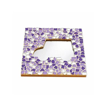 Cristallo Mosaik Bastelset Spiegel Auto Weiss-Lila-Violett
