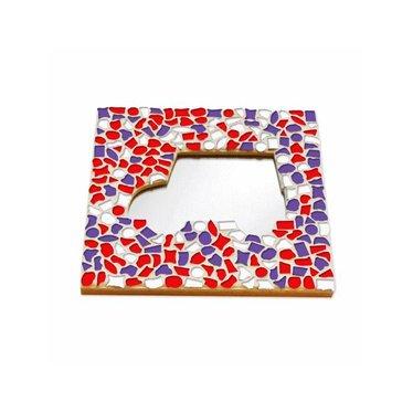 Cristallo Mosaik Bastelset Spiegel Auto Rot-Weiss-Lila