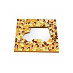 Cristallo Mosaikbastelset Spiegel Auto Braun-Orange-Gelb