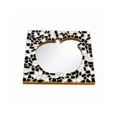 Cristallo Mosaikbastelset Spiegel Apfel Schwarz-Weiss