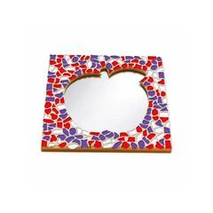 Cristallo Mosaikbastelset Spiegel Apfel Rot-Weiss-Lila
