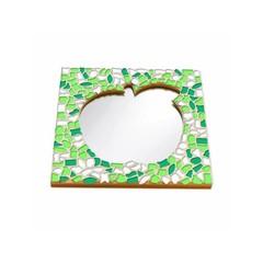 Cristallo Mosaikbastelset Spiegel Apfel Frühling