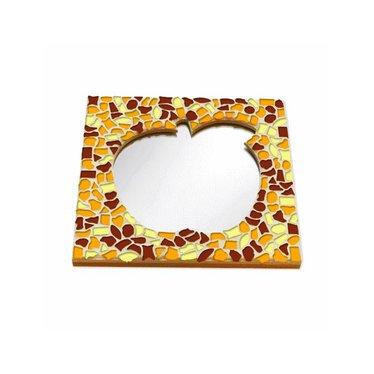Cristallo Mosaik Bastelset Spiegel Apfel Braun-Orange-Gelb
