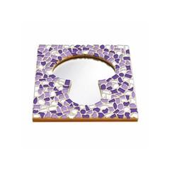 Cristallo Mosaikbastelset Spiegel Erdschwamm Weiss-Lila-Violett