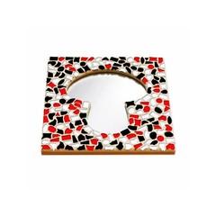 Cristallo Mosaikbastelset Spiegel Erdschwamm Rot-Schwarz-Weiss