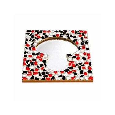 Cristallo Mosaik Bastelset Spiegel Erdschwamm Rot-Schwarz-Weiss