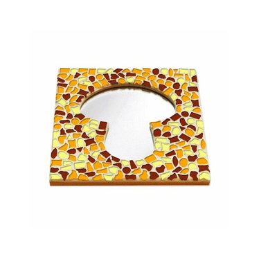 Cristallo Mosaik Bastelset Spiegel Erdschwamm Braun-Orange-Gelb