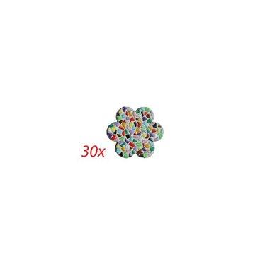 Cristallo Blume 30 Stück Mosaik Bastelset MIX