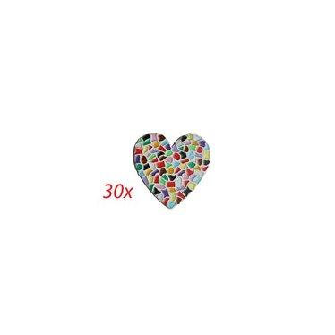 Cristallo Herz 30 Stück Mosaik Bastelset MIX