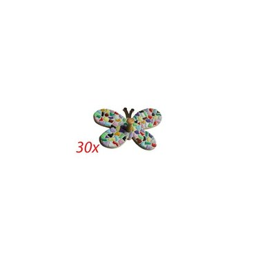 Cristallo Kleiderbügel Schmetterling 30 Stück Mosaik Bastelset MIX