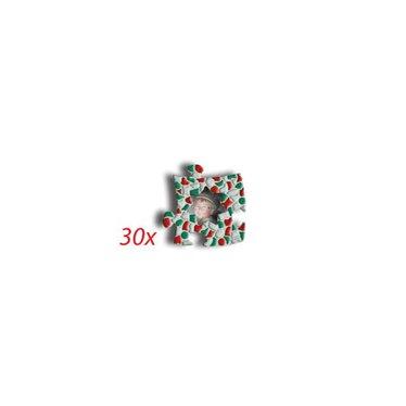 Cristallo Mini-Bilderrahmen Stern 30 Stück Mosaik Bastelset Weihnachten