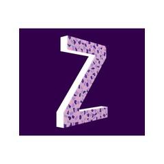 Cristallo Zart, Buchstabe Z