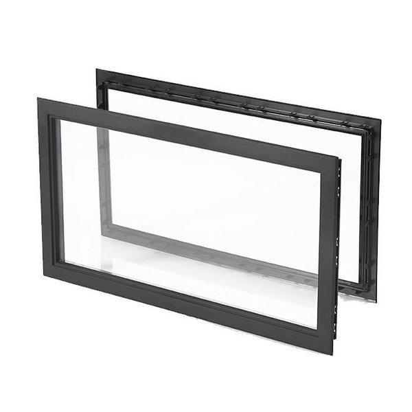Geïsoleerd rechthoekig 680 mm raam - venster 40 mm voor garagedeur