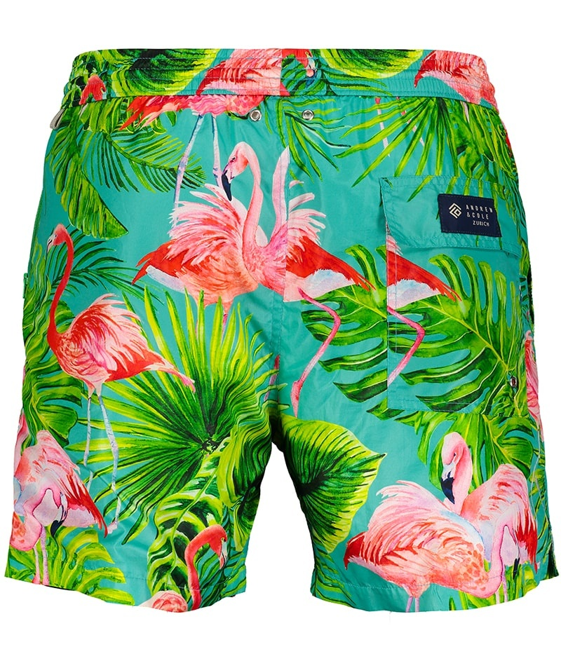 Men's Swim Shorts Flamingo Light Blue-3