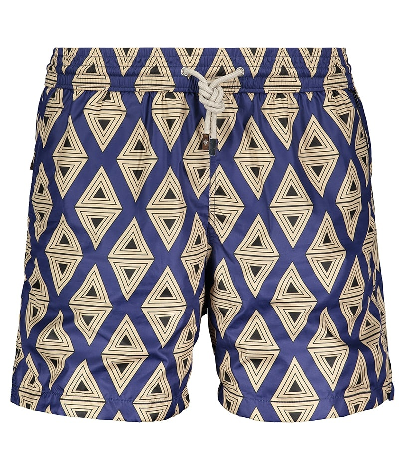Men's Swim Shorts Triangle Blue-2