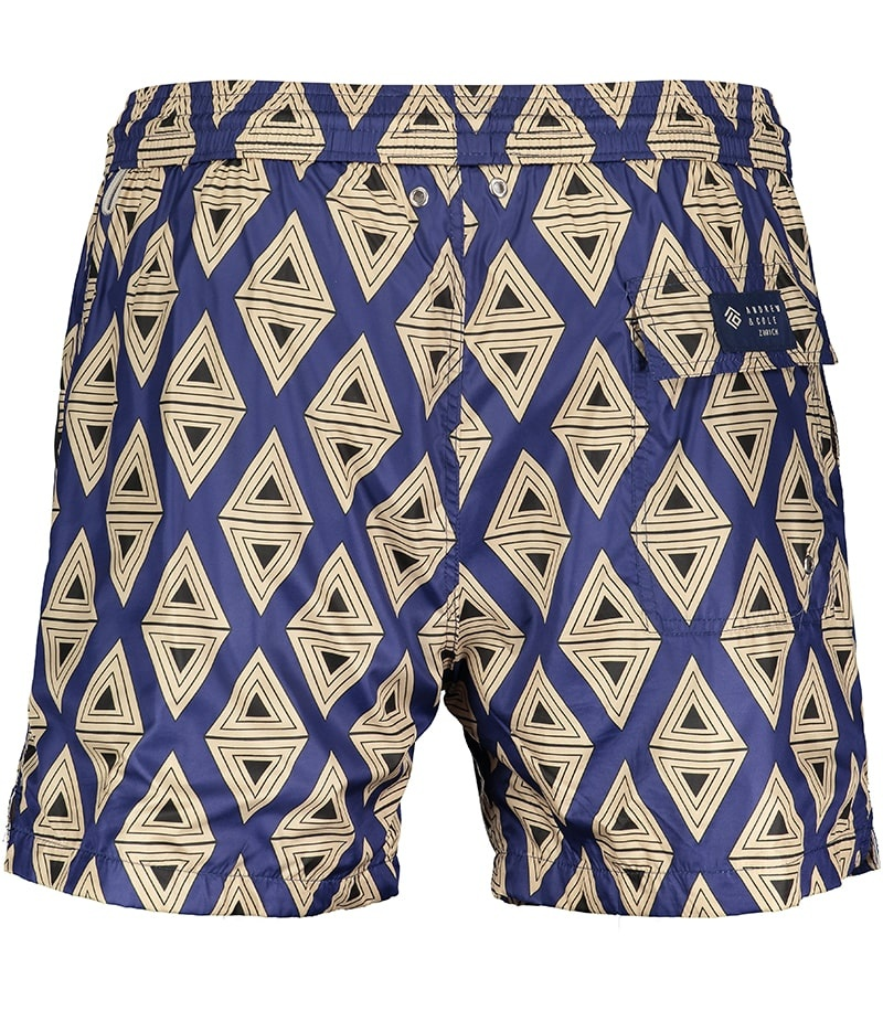 Men's Swim Shorts Triangle Blue-3