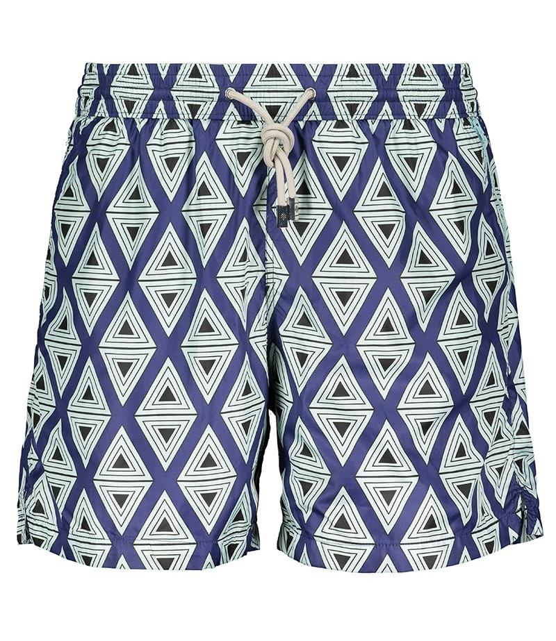 Men's Swim Shorts Triangle Light Blue-2