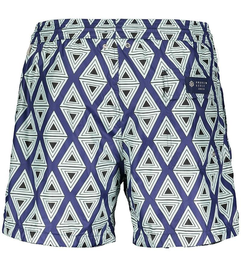 Men's Swim Shorts Triangle Light Blue-3