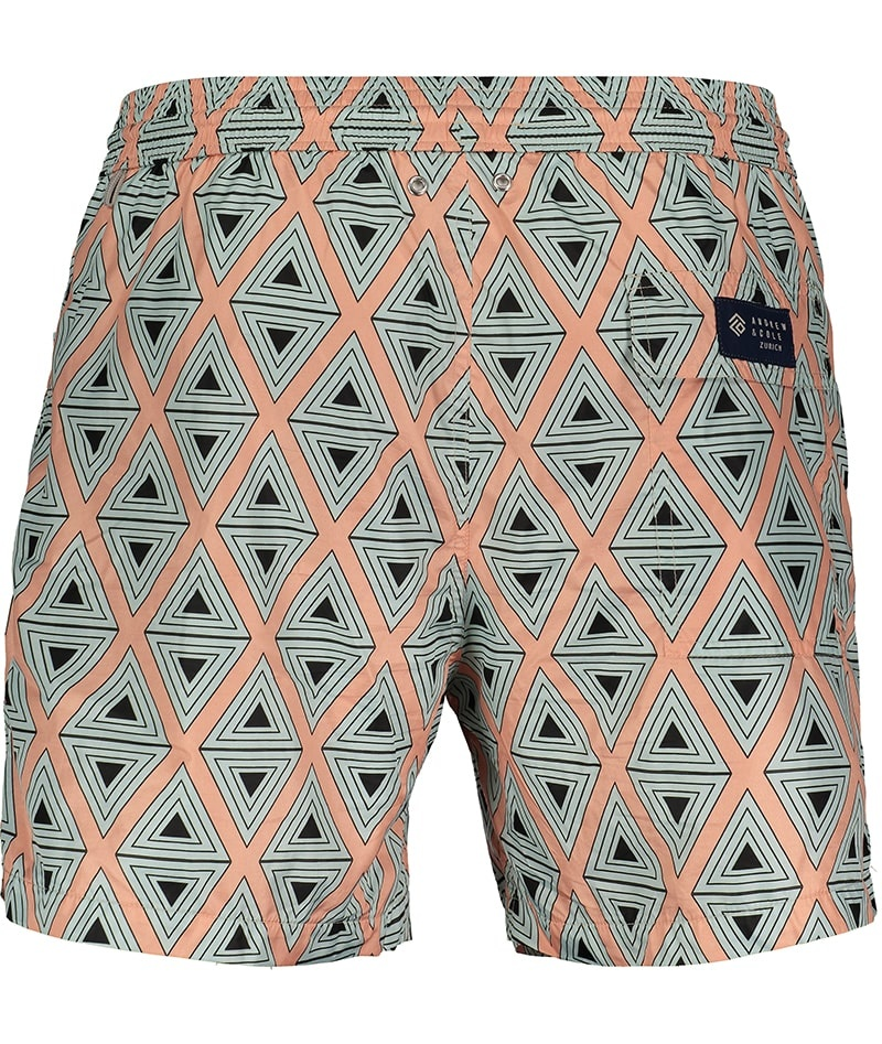 Men's Swim Shorts Triangle Coral-3