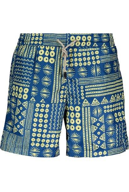 Men's Swim Shorts Blue Pattern