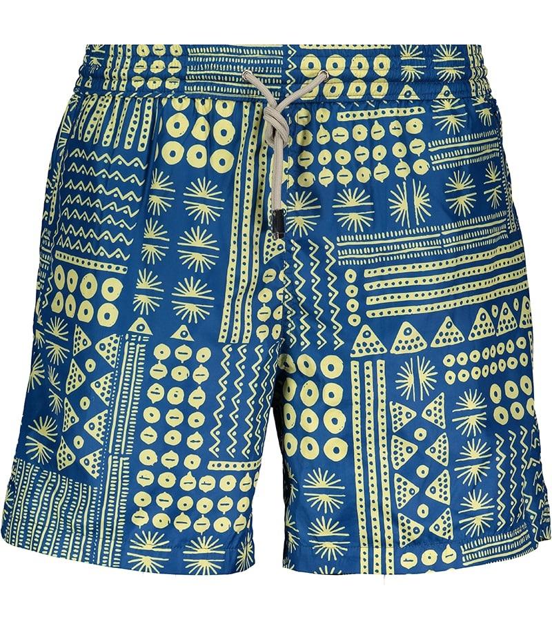 Badehose Herren Muster Blau-2