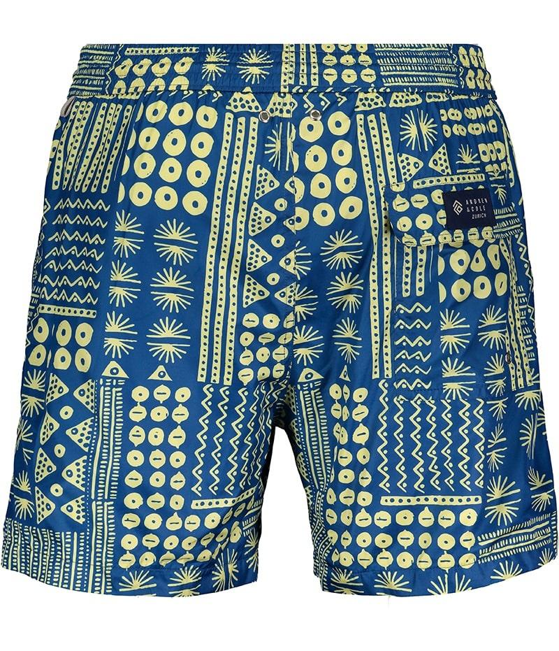 Badehose Herren Muster Blau-3