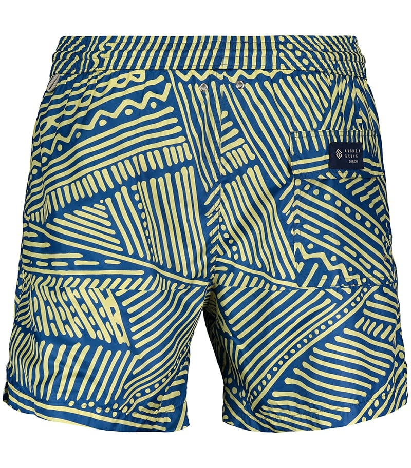 Men's Swim Shorts Africa Blue-3