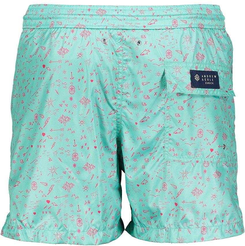Men's Swim Shorts Oceano Mint-3
