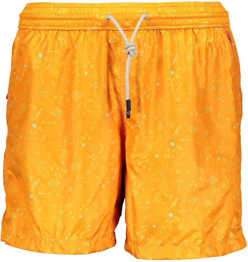 Mens' Swim Shorts Oceano Orange-2
