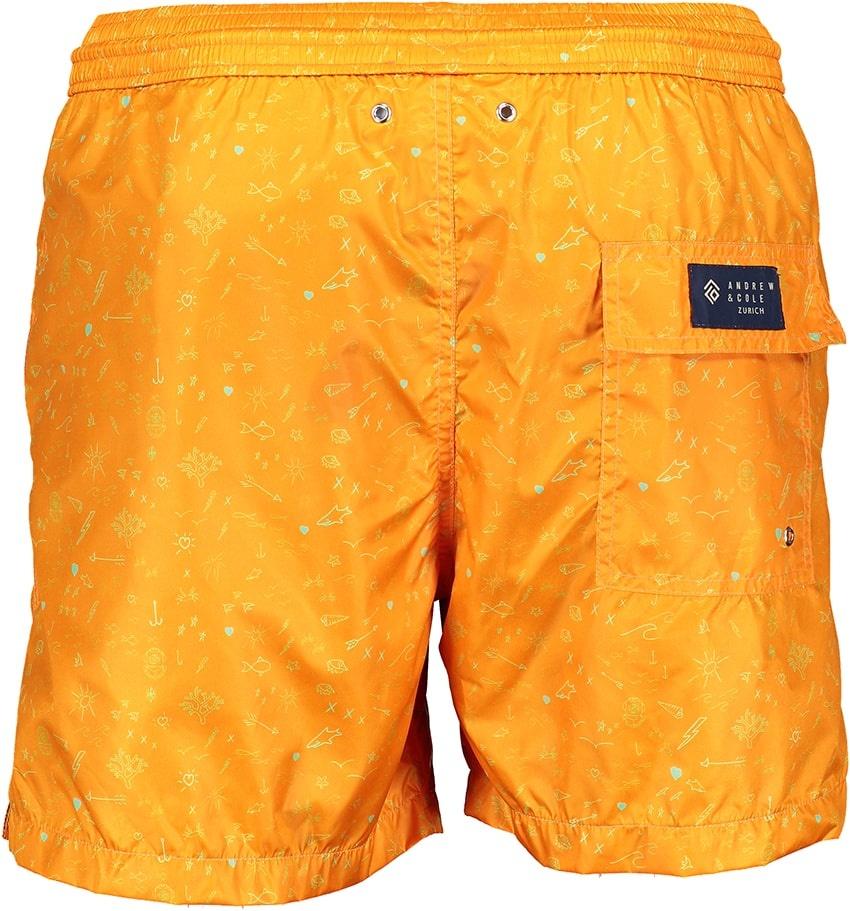 Mens' Swim Shorts Oceano Orange-3