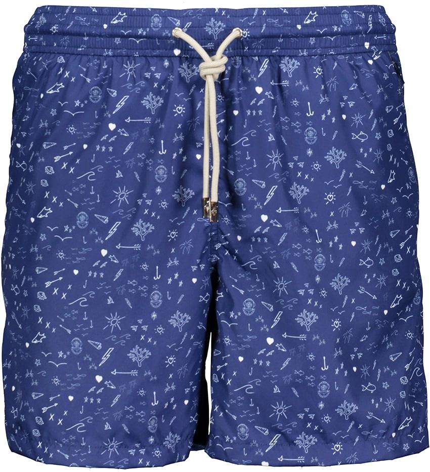 Badehose Herren Oceano Blau-2