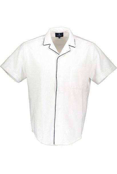 Kurzarmhemd Frottee Herren Weiss