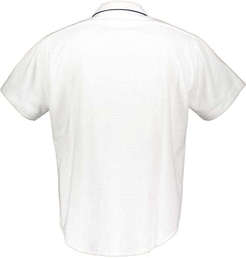Kurzarmhemd Frottee Herren Weiss-3