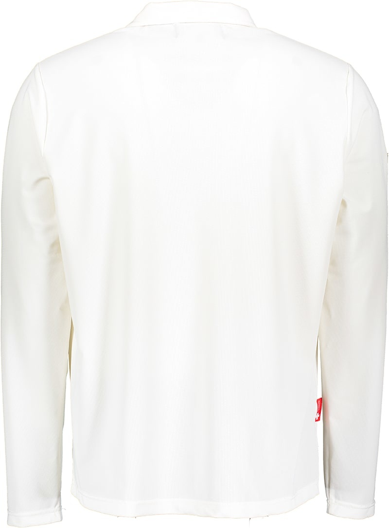 Men's UV Longsleeve  collar shirt white (ZURICH EDITION)-2