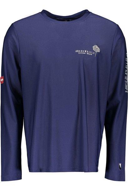 Men's Rash Vest Longsleeve Shirt Blue (ZURICH EDITION)