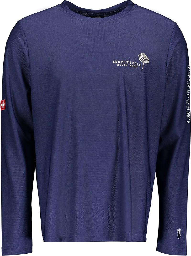 Men's Rash Vest Longsleeve Shirt Blue (ZURICH EDITION)-2