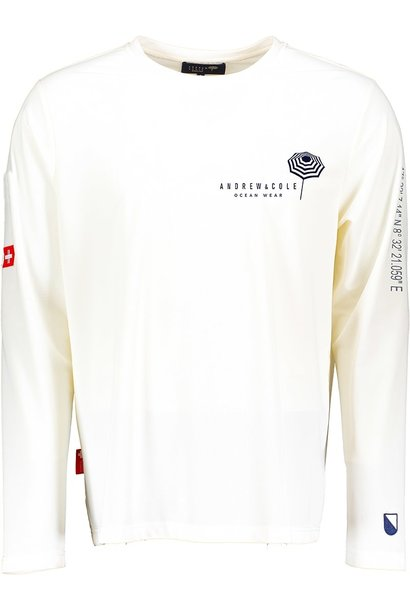 Men's Rash Vest Longsleeve Shirt White (ZURICH EDITION)