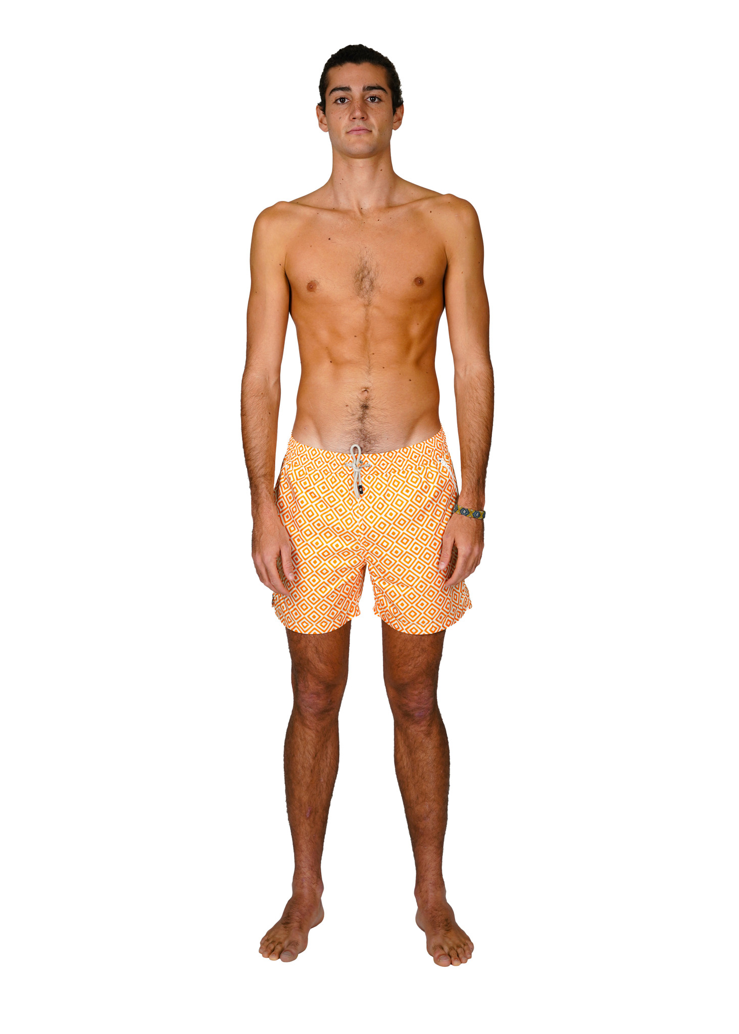 Badehose Herren Diamante Orange-1